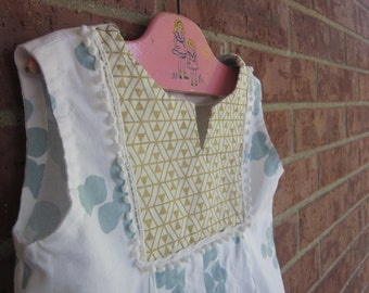 Golden Triangles Sundress // Modern-Vintage // 9 mo - 3T // Made To Order
