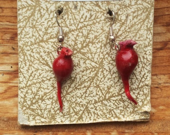 Beet Earrings