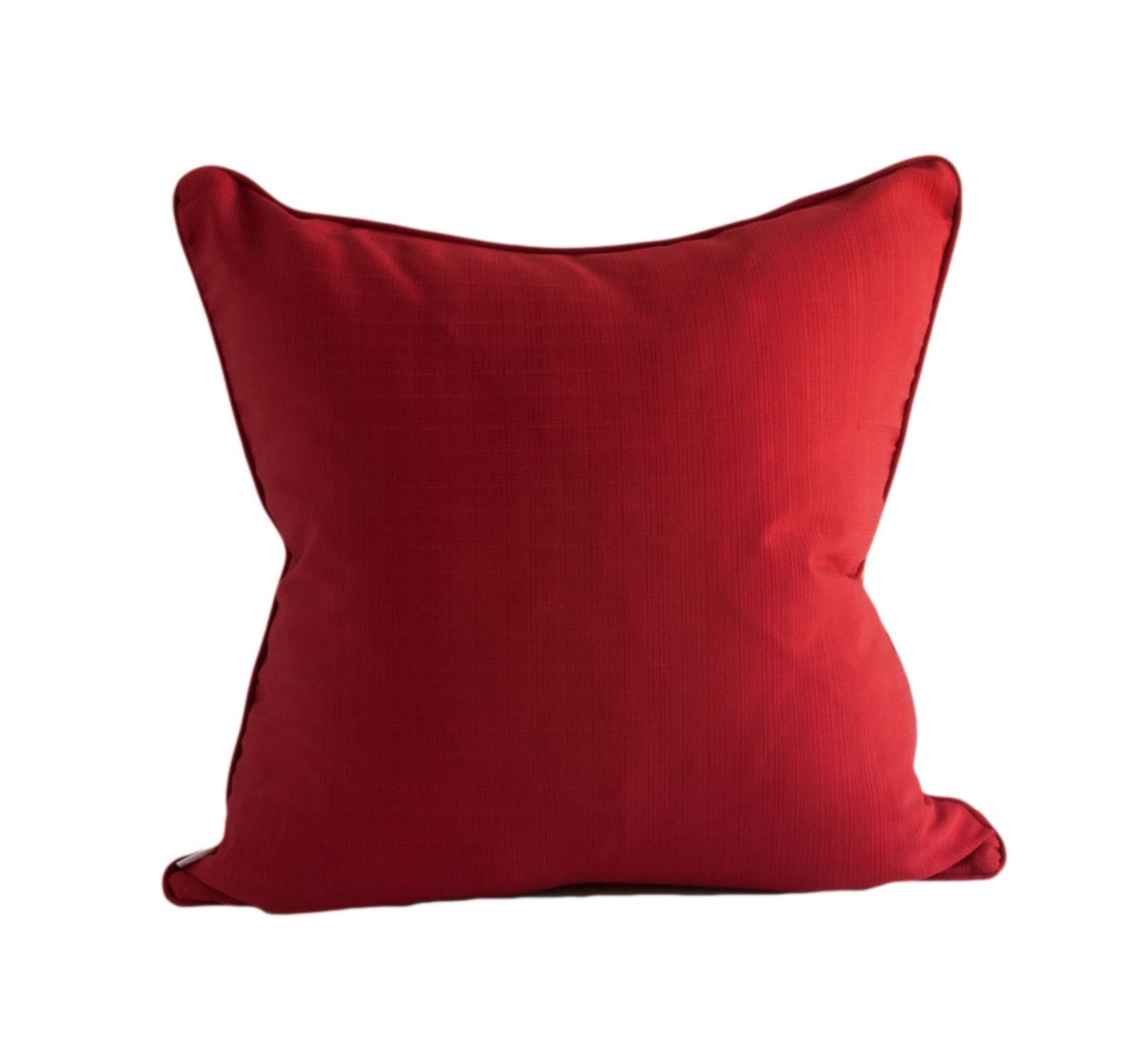 OUTDOOR PILLOW COVERS Red Pillow Cover Decorative Pillow