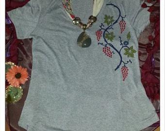Turkish traditional art paint on t-shirt
