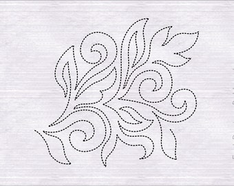 Quilting Border Embroidery Designs : Quilt block pattern Etsy