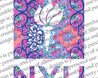 NYU Printable- Lilly Pulitzer Inspired