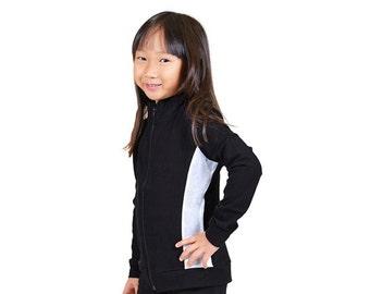 Girl's Cadet Silver Slit Warmup Jacket