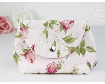 Cosmetic bag for baby dummies make up powder hygiene products cream tissues pink green white ILA - isn't life amazing