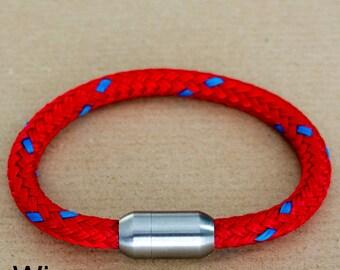 Red Bracelet | Rope Bracelet Red | Mens Bracelet