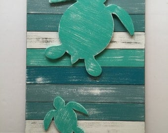 Sea Turtle Beach Wall Art Coastal Turtle Wall Decor Nursery Wood Turtle Beach Wall Art Beach Decor Beach Sign Beach Art Gift