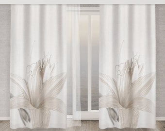 Flower Curtain White Lily Flower