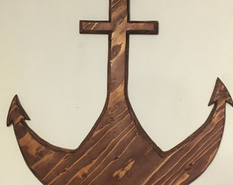 Hand Crafted Wooden Anchor