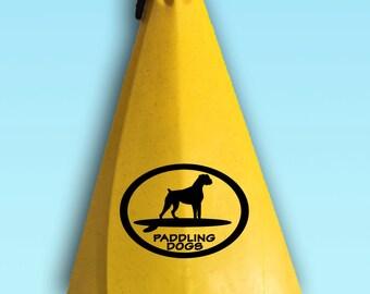 Boxer Dog Vinyl SUP Kayak Canoe Car Sticker Decal Original Design by Paddling Dogs