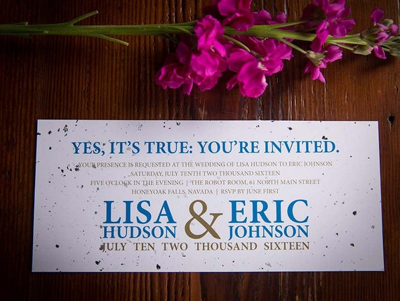 Speckled Digital Wedding Invitation + RSVP