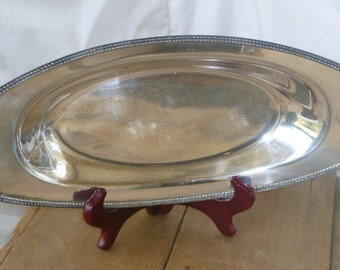 Retro Silverplate Serving Tray