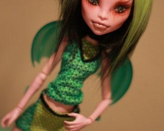 OOAK Custom Monster High Dragon Set