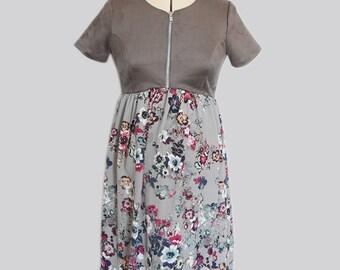 Maternity Dress - Grey Stone