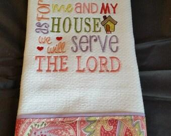 Dish Towel/ Christian Dish Towel/ Kitchen Towel/ Christian Kitchen Towel/ Embroidered Dish Towel/ Scripture Kitchen Towel/ Waffle Dish Towel
