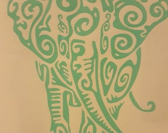 Decorative Elephant Decal