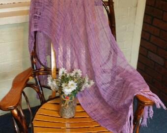 Merino and silk shawl