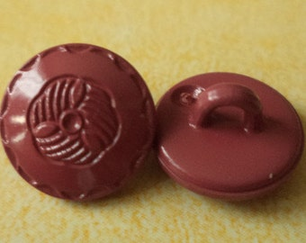 10 small red buttons 12mm (4155) button Red