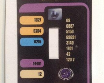 LCARS light switch cover - vinyl