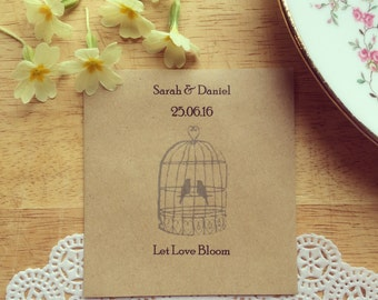 Wildflower Seed Favour Birdcage