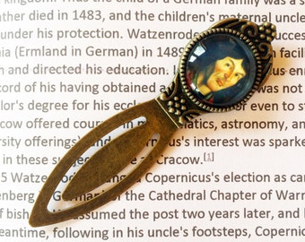 Copernicus Bookmark - Astronomy Bookmark, Solar system Bookmark, Renaissance Astronomy Gift, Nicolaus Copernicus Vintage Style Bookmark