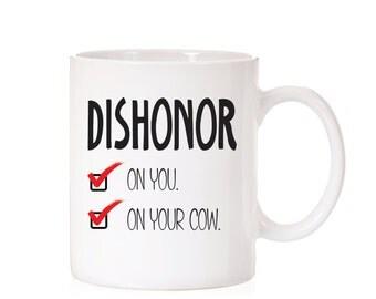 Disney Mulan Quote Mug   Mushu Quote   Dishonor Quote   Disney Quote   Disney Funny Mug