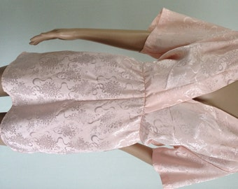 Vintage All That Jazz pink open back mini dress US Junior 7 UK 8/10