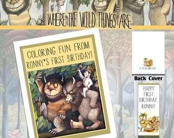 Where the Wild Things Are Coloring Book with Crayons