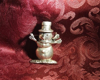 stunning sterling silver frosty the snowman brooch and pendant