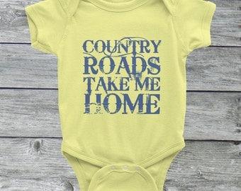 Country Roads Onesie (Baby American Apparel Onesie)