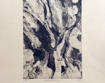 Abstract Intaglio Print