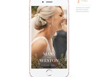 Custom Snapchat Geofilter: Wedding Branches