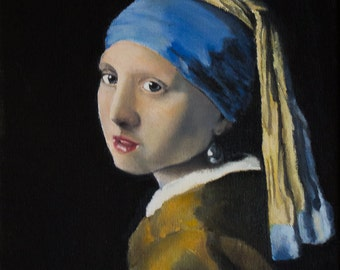 """Study of Vermeer's  """"Girl with a pearl earring"""""""