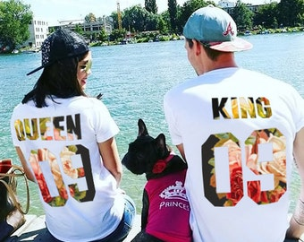 King and Queen Couples T-shirt Set, King and Queen Couples Shirt Set, 100% cotton Tee, UNISEX