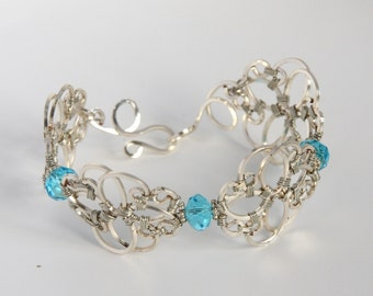Silver Wire Filigree Bracelet Wire Jewelry Statement Jewelry