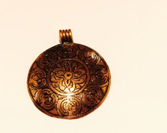 Copper Pendant from India - 2 Pieces - #92