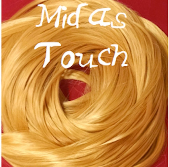 Midas Touch Golden Blonde Nylon Doll Rerooting Hair Hank for Barbie, Monster High, Ever After, Sindy, Crissy, Blythe Rehair My Little Pony