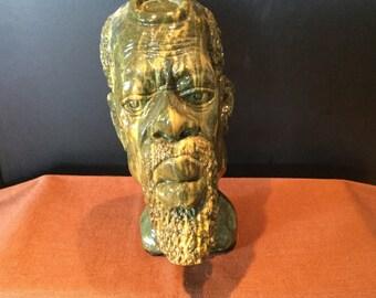 "Beautiful Hand-Carved Verdite Sculpture By ""Shona"" Artist Richard Chiwasa"