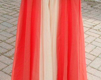 Peachy Orange Vintage 1960s dress