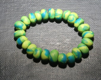 Homemade Polymer Clay Bracelet