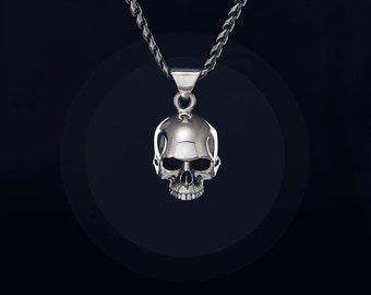 Johnny depp sterling silver skull ring handcrafted large sterling silver skull pendant with hidden space inside huge heavy rock biker punk goth mozeypictures Image collections