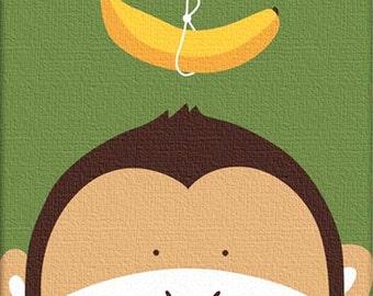 Monkey cross stitch pdf file animals cross stitch colored pdf pattern instant download