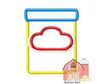Play- doh container applique design, play dough design- Play dough Applique design- School embroidery design- Machine Embroidery design