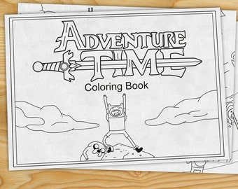 Adventure Time Coloring Book Finn The Human Jake Dog PDF
