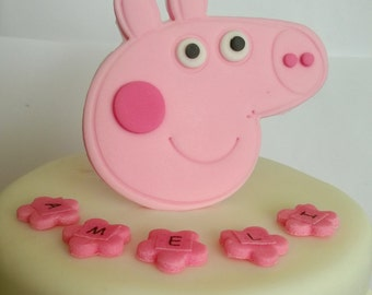 personalised edible cake decoration PEPPA PIG cake toppers figure birthday