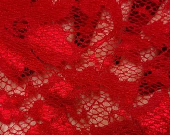 SALE - Lace Red (2yd Cuts)
