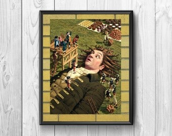 Gulliver's Travels, Gulliver's travels posters Gulliver print, adventure novel, wall posters, giant