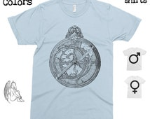 Astrolabe T-shirt, Tee, American Apparel, Astronomy, Navigation, Astrology, Science, Antique, Cute Gift