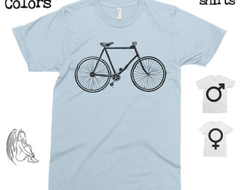 Vintage Bicycle T-shirt, Tee, American Apparel, Cycling, Triathlon, Bike, Sport, Cycling Apparel, Cute Gift