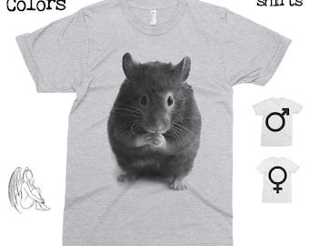 Hamster T-shirt, Tee, American Apparel, Animal, Animals, Furry, Adorable, Pet, Cute Gift