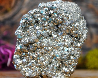 Pyrite Mineral Crystal Cluster - 1043.889